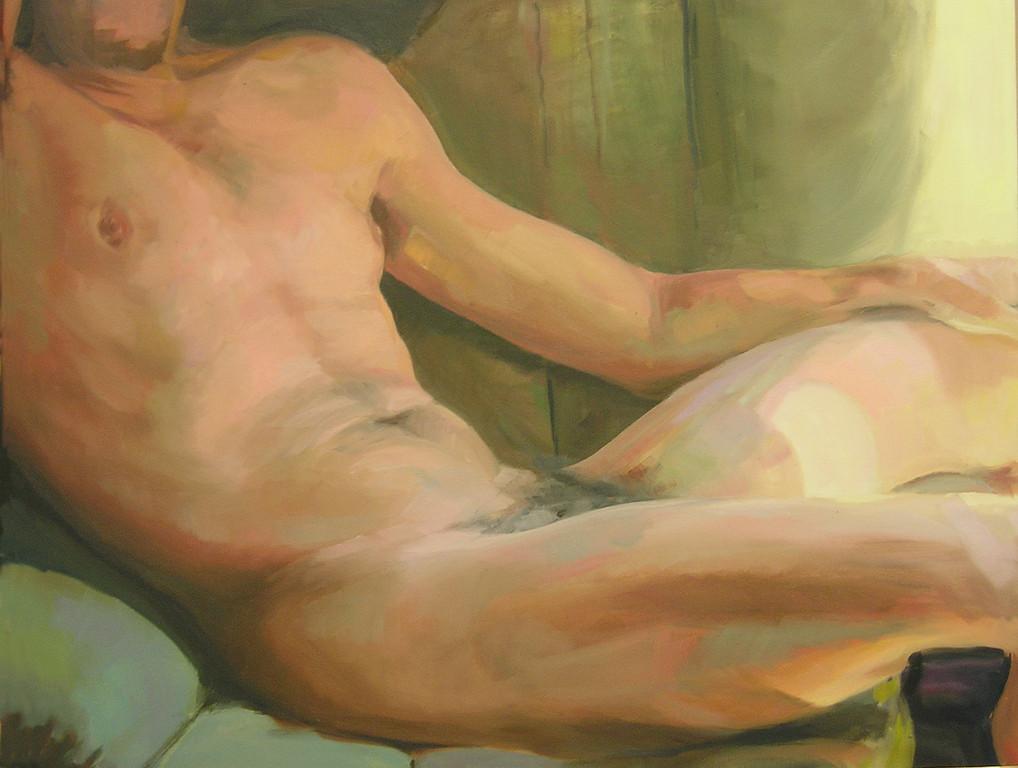 El cuerpo y la luz. 92 x 73 cm. Oleo sobre lienzo.