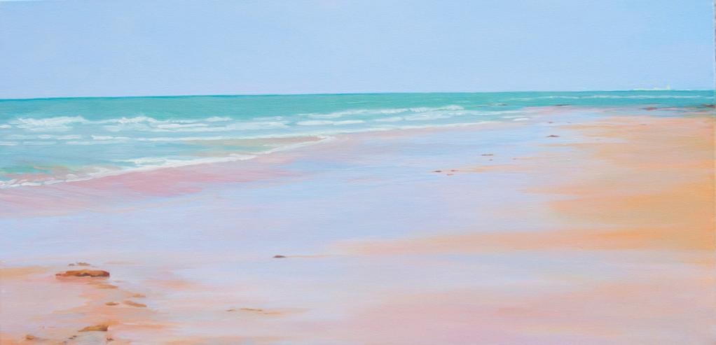 La playa de Teresa. 40 x 80 cm.