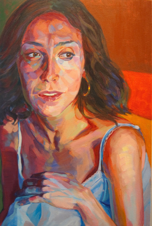 Lucia.  54 x 81 cm.  Acrylic on canvas. (private collection)