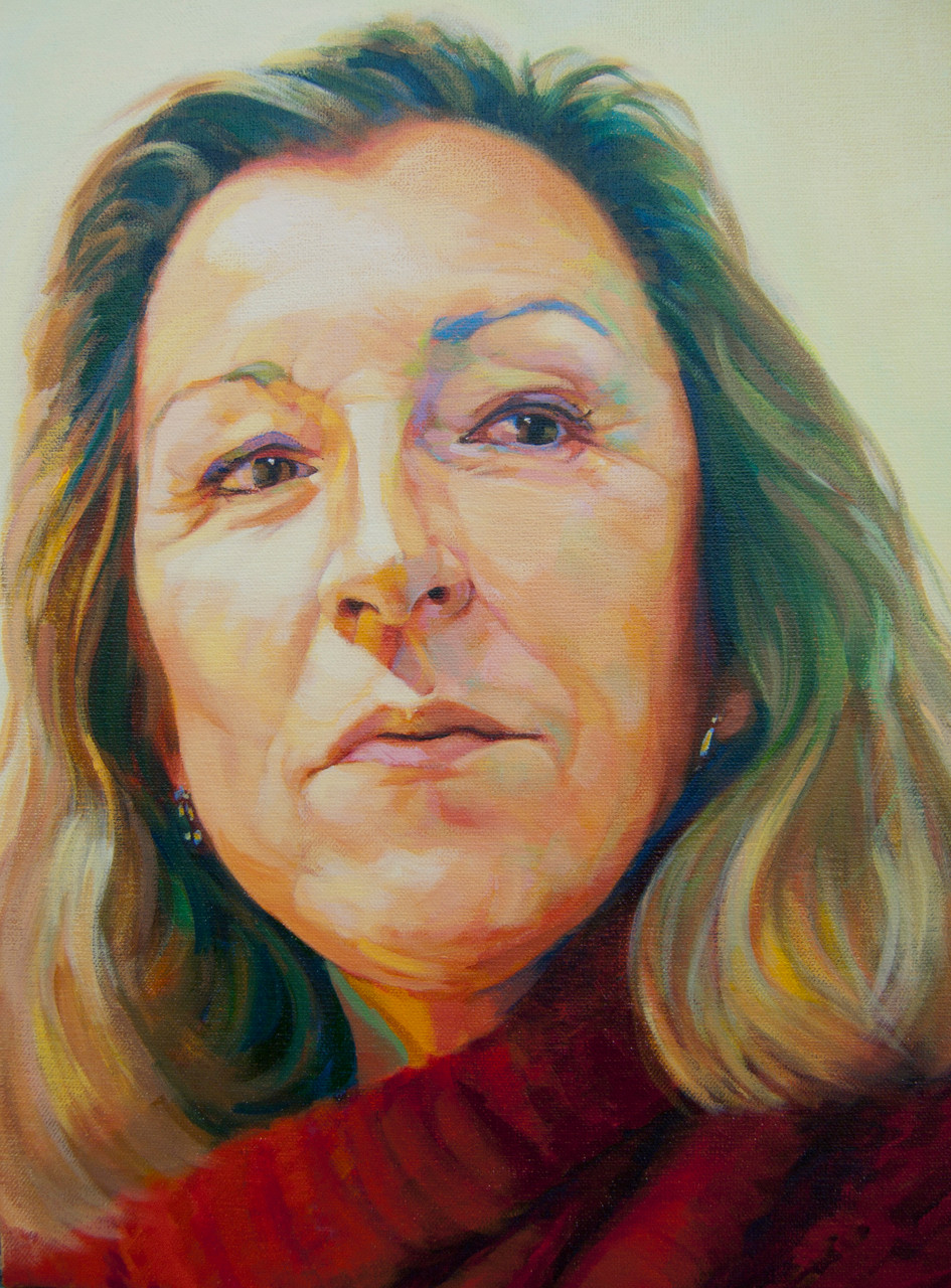 Ana Barrón y López de Roda. Acrylic on canvas.