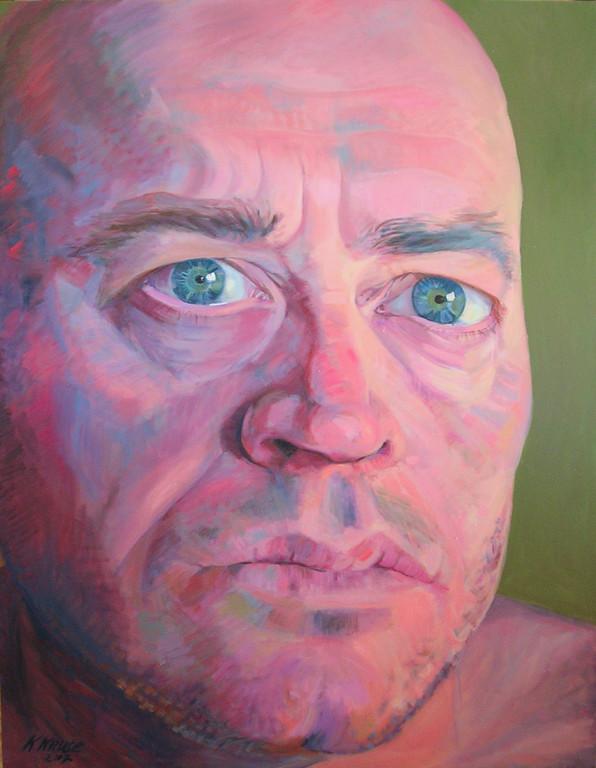 La mirada de Raul. 145 x 115 cm. Oleo sobre lienzo.