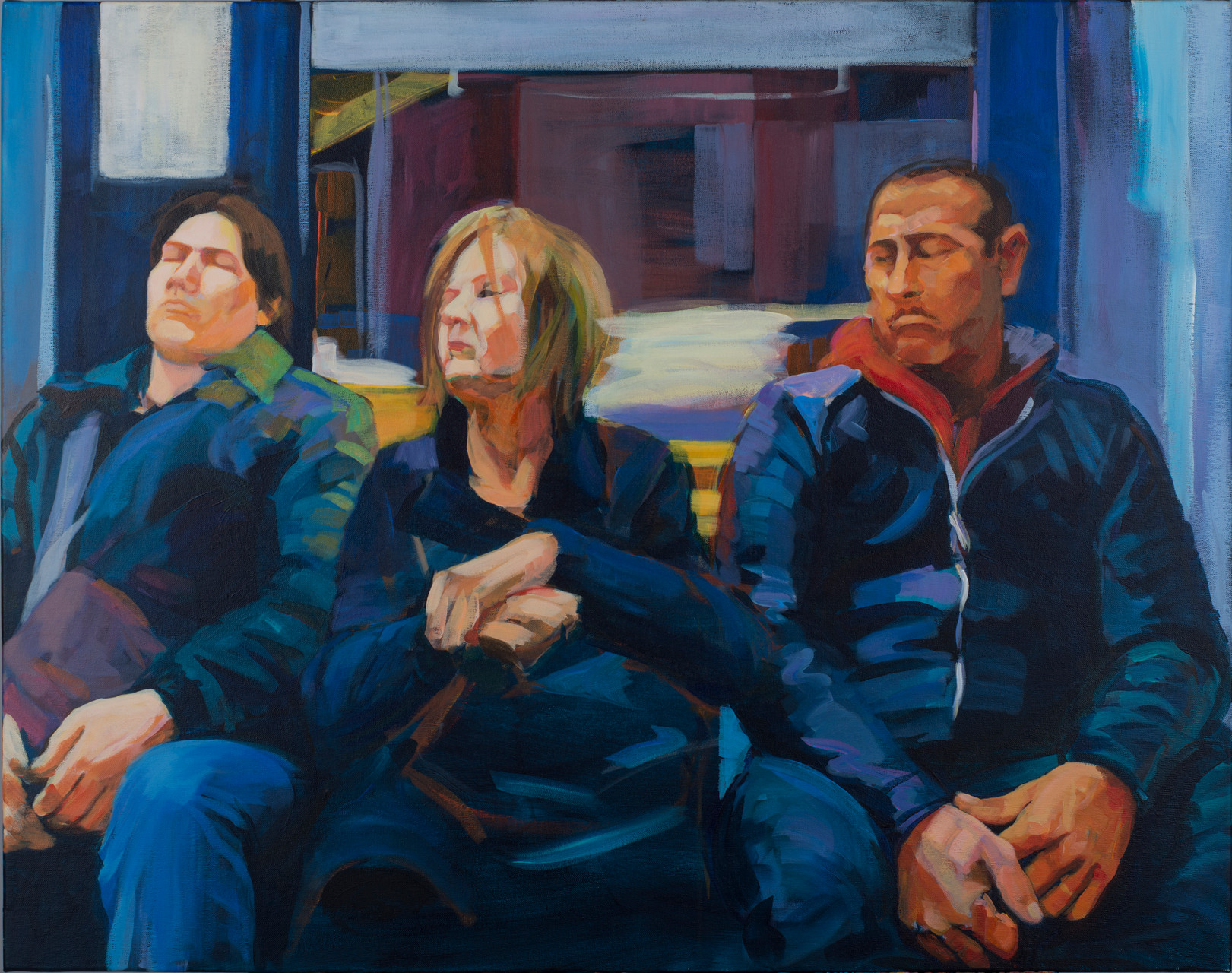 Subway II. Acrylic on canvas. 73x92 cm.