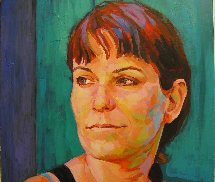 Sandra. Acrylic on canvas.