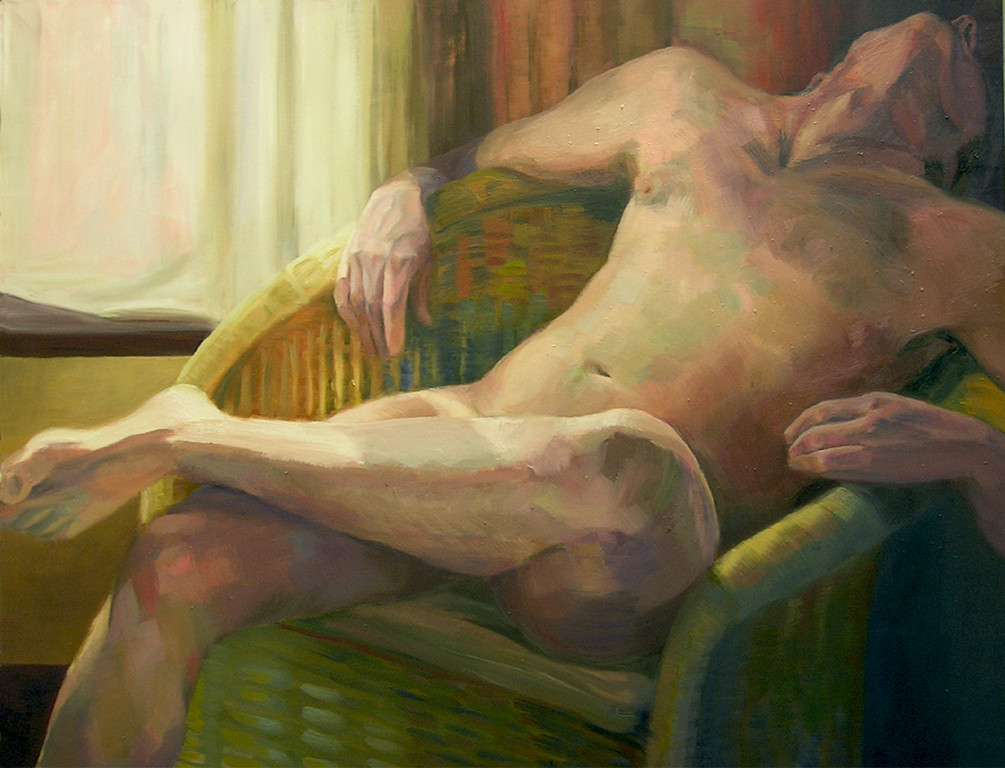 La ventana. 100 x 81 cm. Oleo sobre lienzo. *