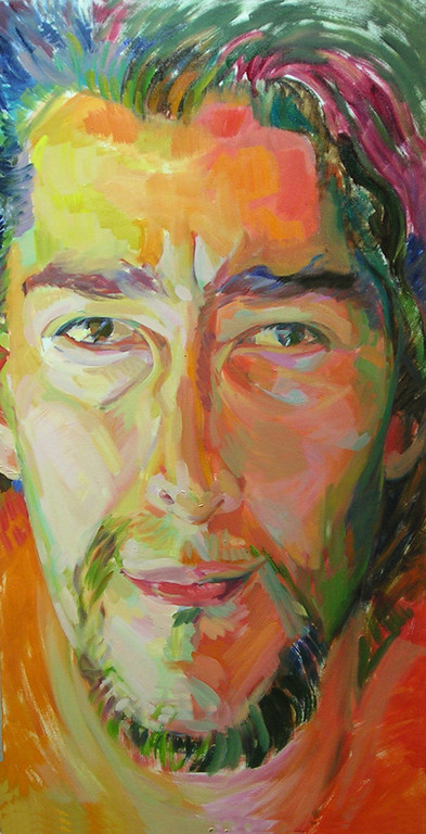 Carlos de Frente. 110 x 57 cm. Oleo sobre lienzo.