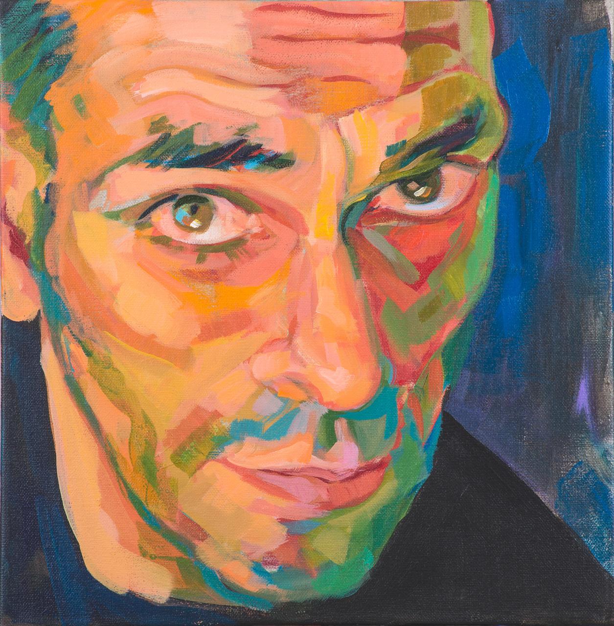 El Maestro. Acrylic on canvas. 30 x 30 cm.