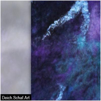Schal in Blauviolett