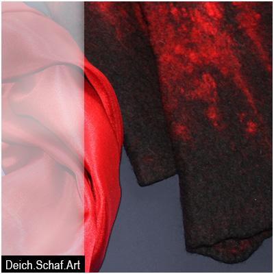 Stulpen in Schwarz-Rot