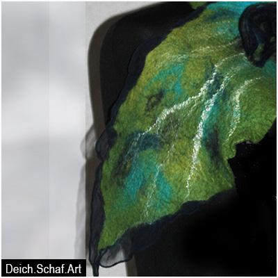 """Kleiner Schal """"Grünes Blatt"""""""