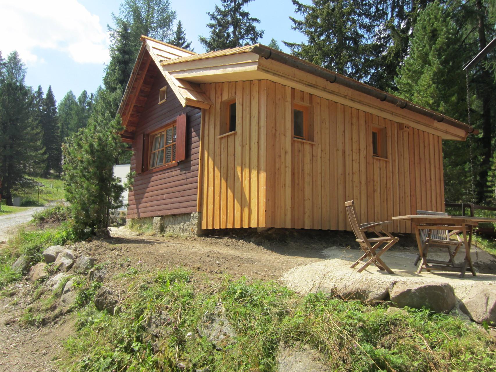 Zirbenwald-Chalet Turracher Höhe - Sommer Ostansicht