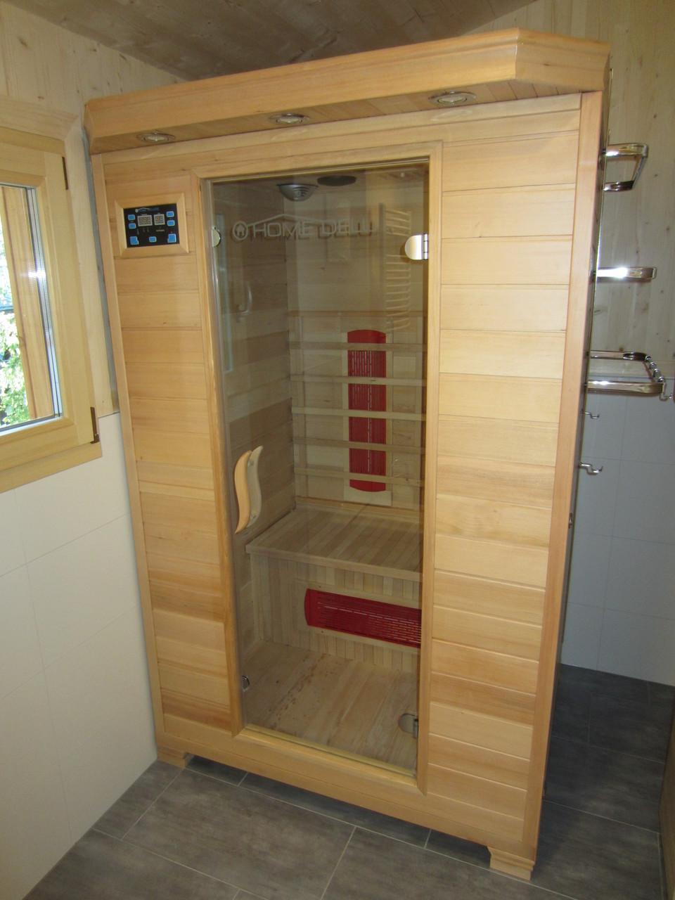 Infrarotkabine/-Sauna für 2 Personen, schnell aufgeheizt - angenehme und vitalisierende Wirkung
