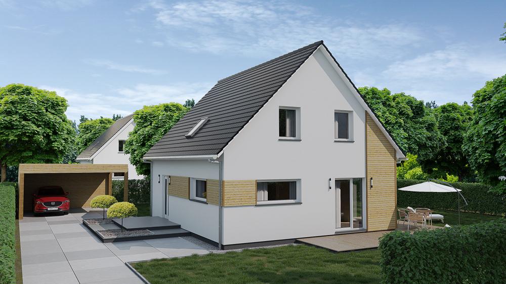 3d Visualisierung Einfamilienhaus