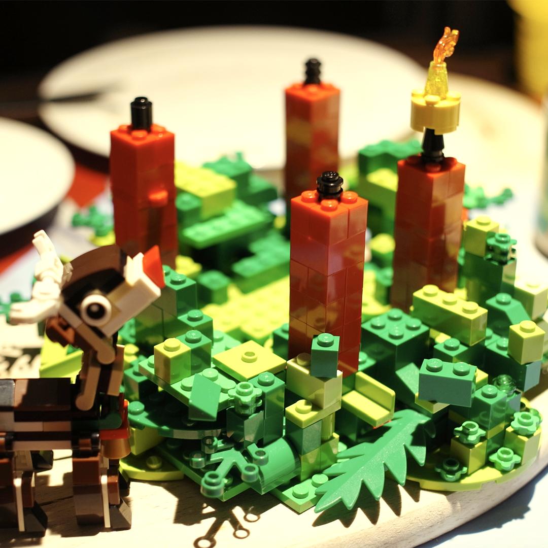 Adventskranz aus Lego