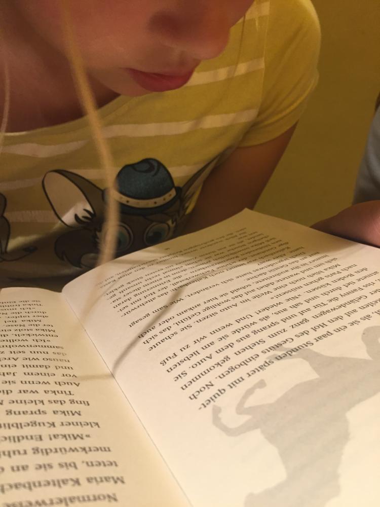 Auch im Schmalen Haus ging es weiter mit Lesen