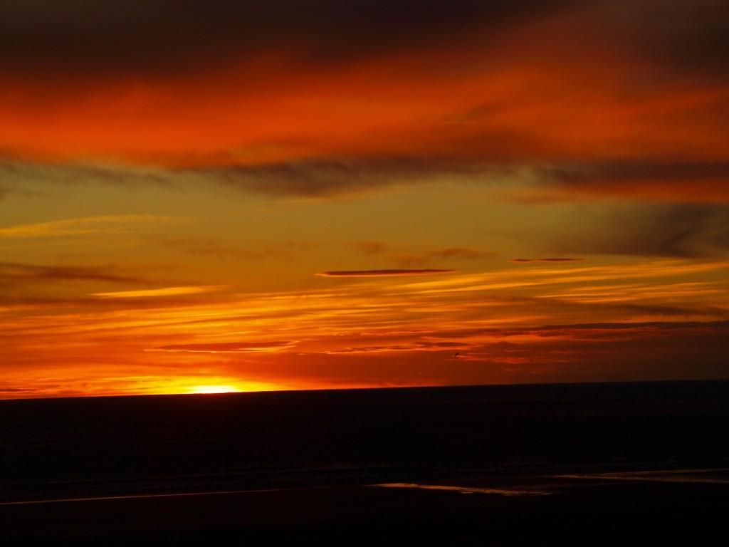 Sonnenaufgang in Monte Leon. Ich war dabei....ca. 05:00