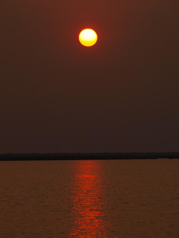 mit einem tollen Sonnenuntergang
