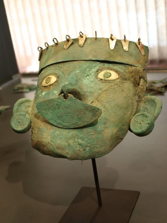 Kupfermasken der Indios