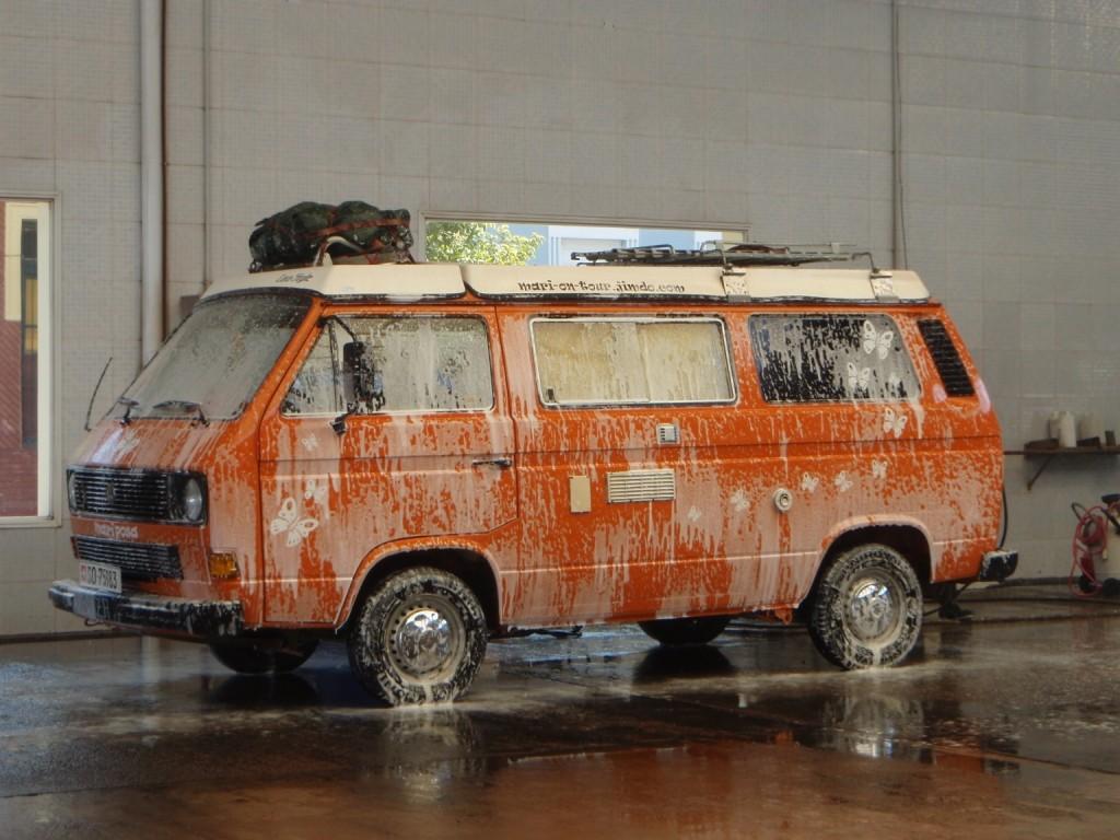 Damit wir in Argentinien auch einen guten Eindruck machen, liessen wir Mari nach langer Zeit wieder einmal gründlich waschen