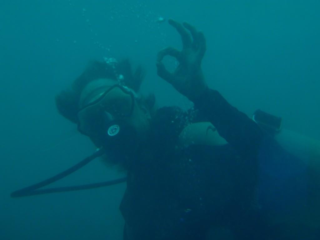 Alles ok auch unter Wasser