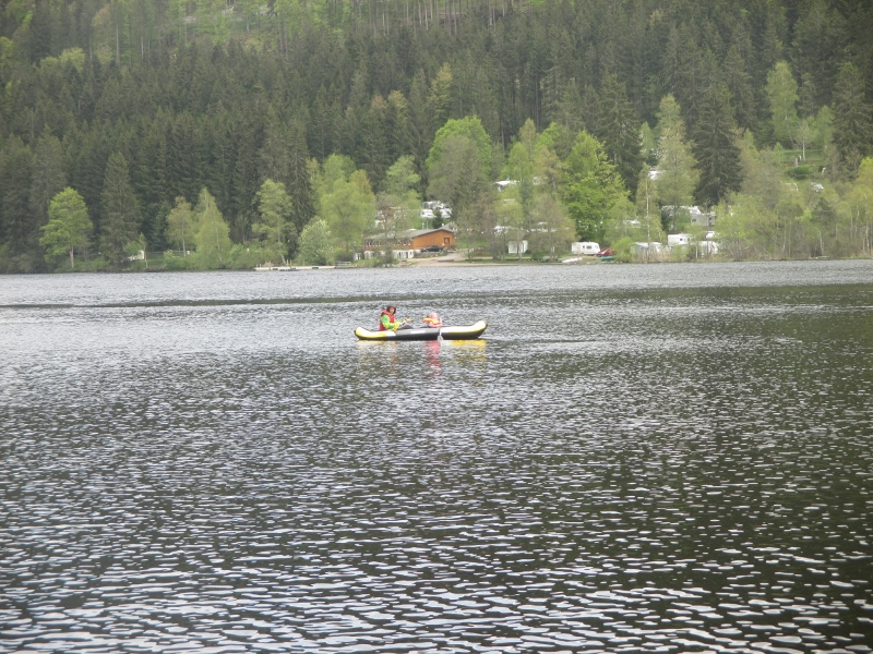das Wetter liess sogar eine kleine Kanu-Tour zu