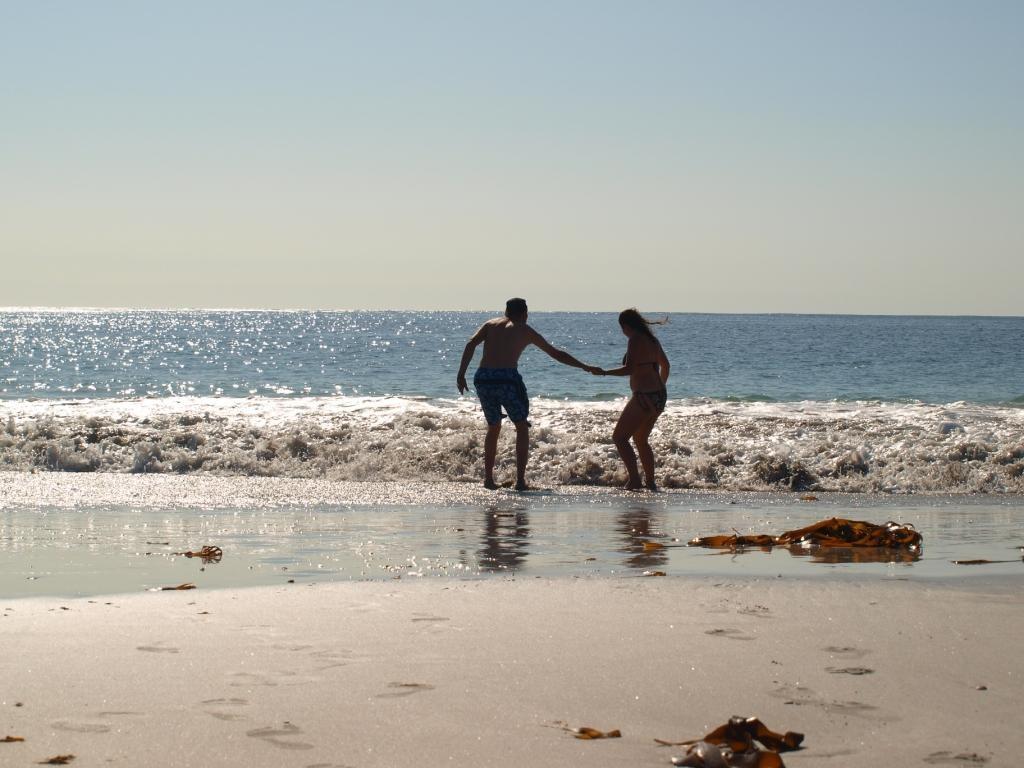 egal, trotz vieler Sandflöhe und a.Kälte muss es jetzt einfach Wasser sein