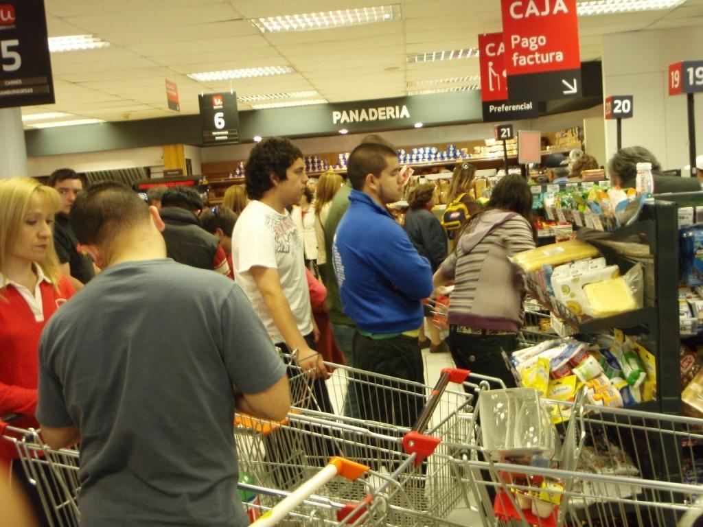 Einkaufsrummel am 30.12. in Chile...Mannmannmann...noch nie erlebt