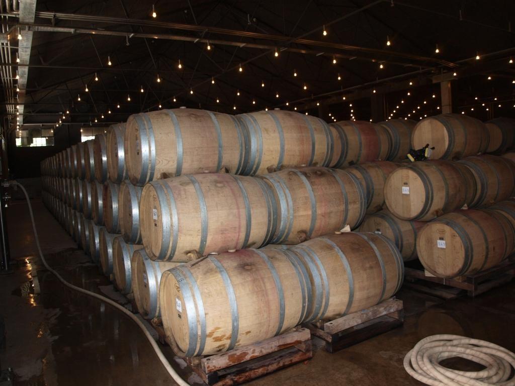 hier wird der leckere Wein gelagert