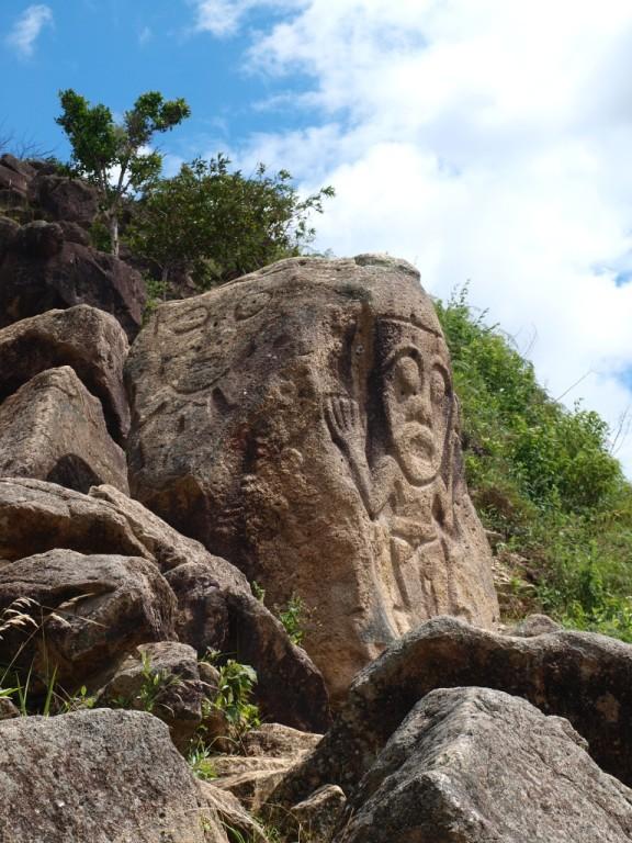 die Steine weisen verschiedenste ungeklärte Figuren auf
