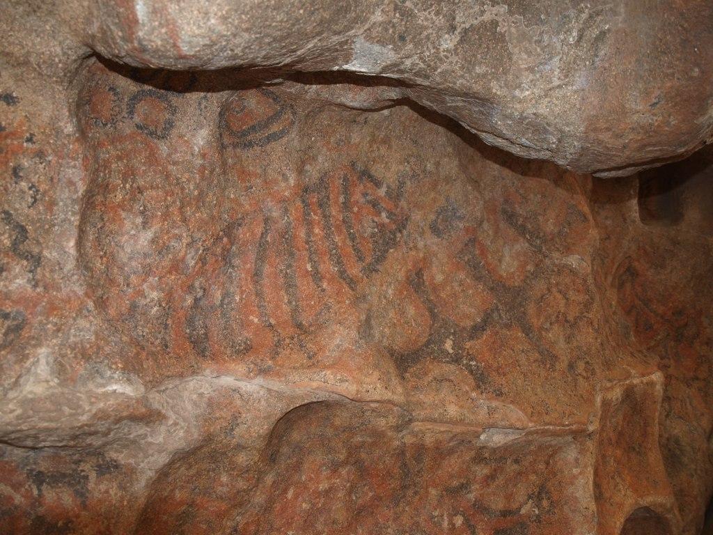 die 2000 Jahre alten Steinmalereine