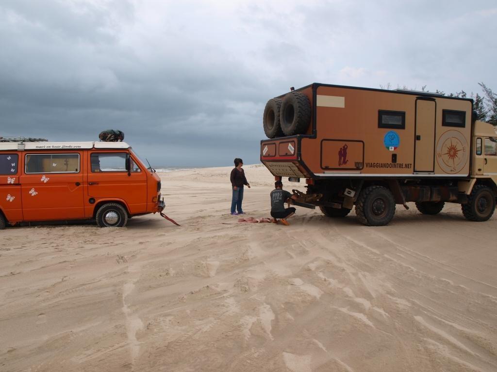 """und mit Bruno im Schlepptau kann man auch mal """"versuchen"""" Sand zu fahren"""