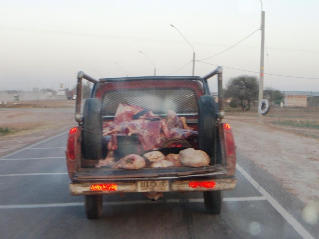 so wird hier geschlachtetes Fleisch transportiert
