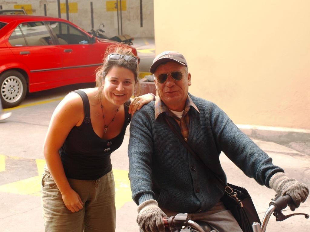Unsere Rettung in Arequipa. Angelo fuhr uns mit seinem Motorrad durch die Stadt voraus