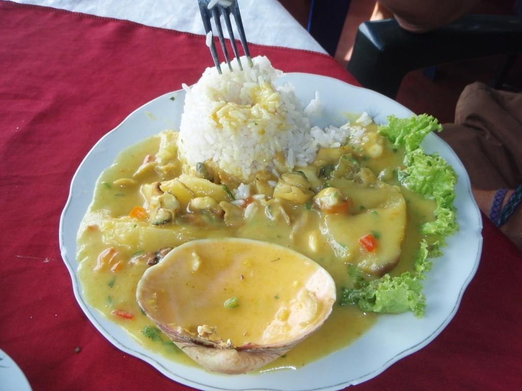 Einheimisches Fischgericht (etwas scharf!)
