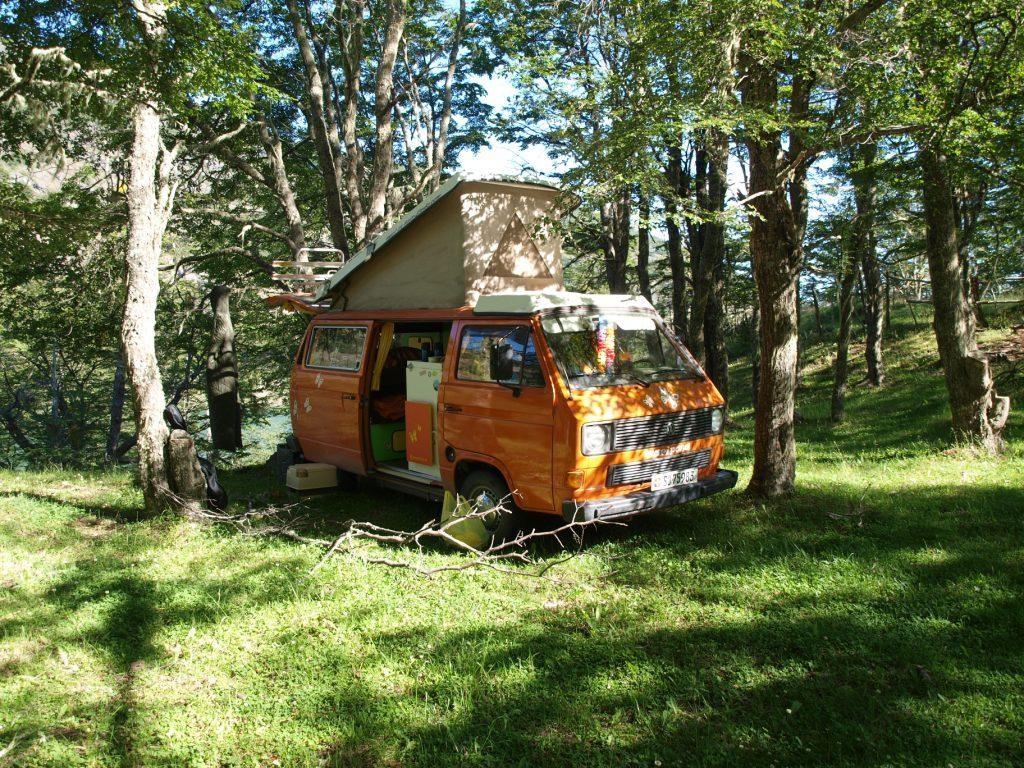 Wildes campen an der Laguna La Manga