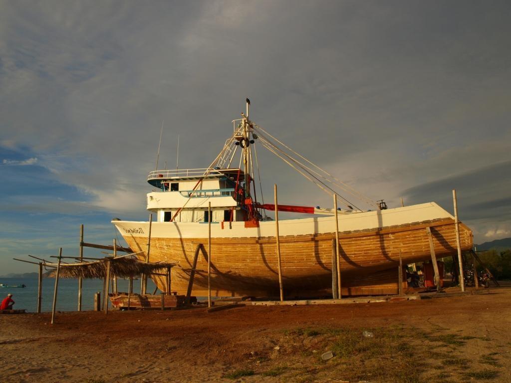 dieses Fischerboot wird noch von Hand gebaut