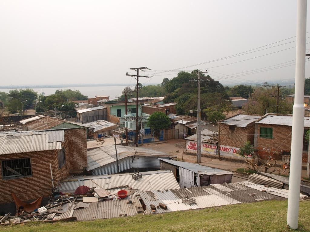...liegen direkt die Slums