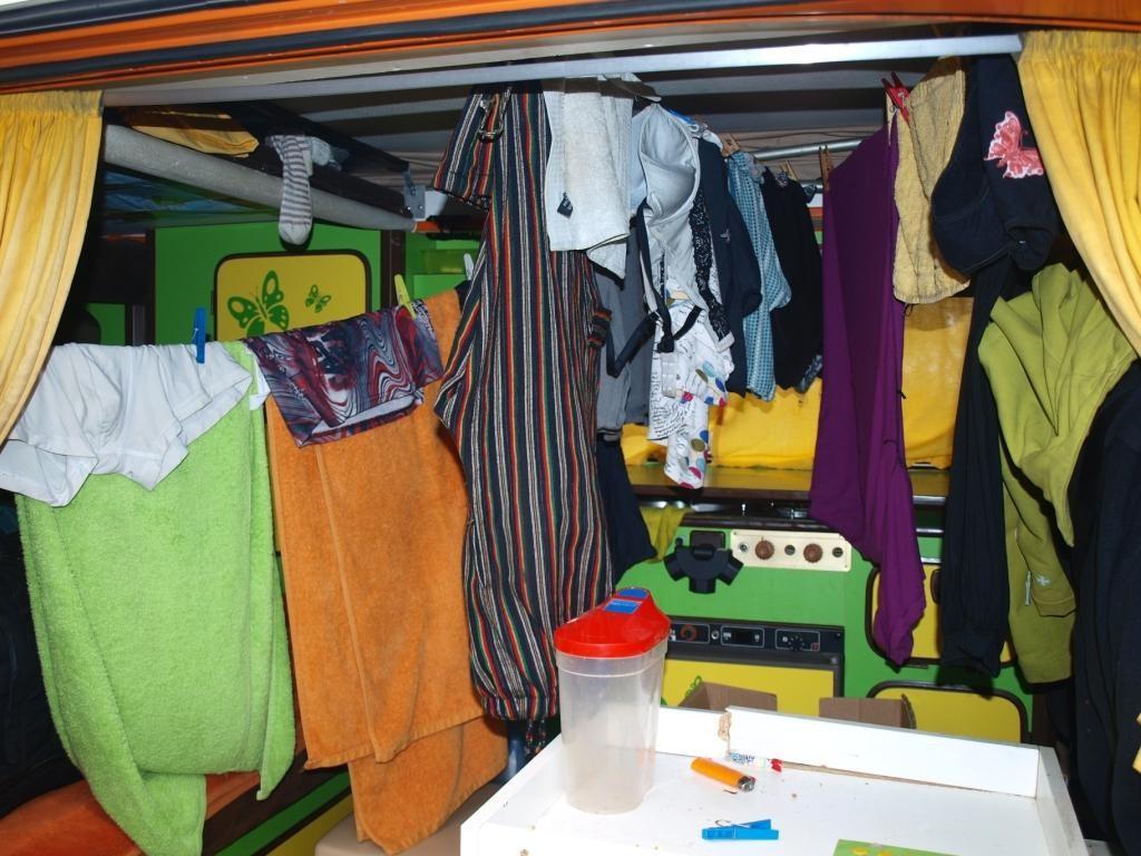tja auch bei Regentagen muss unsere Wäsche irgendwie trocknen