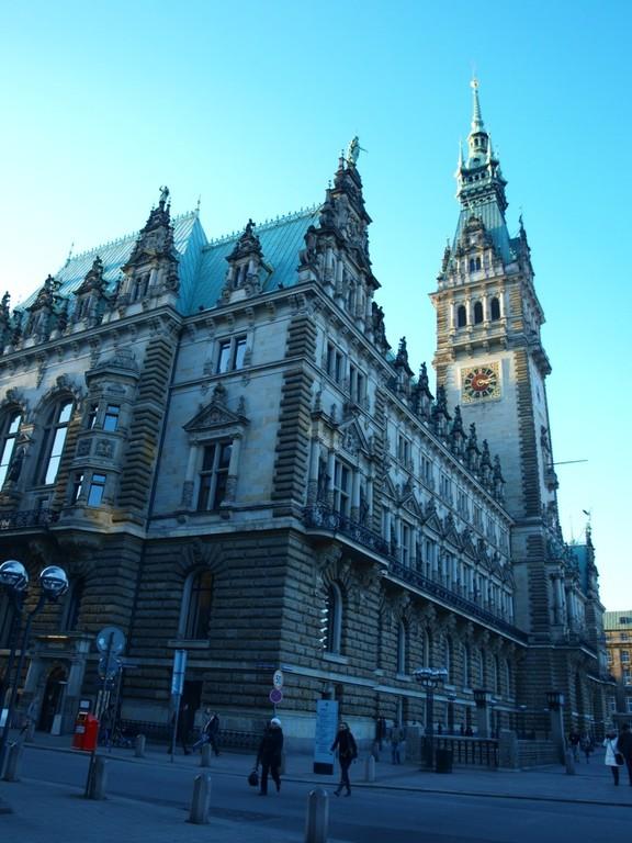 Viele schöne Gebäude haben wir in Hamburg bei minus 10 Grad gesehen