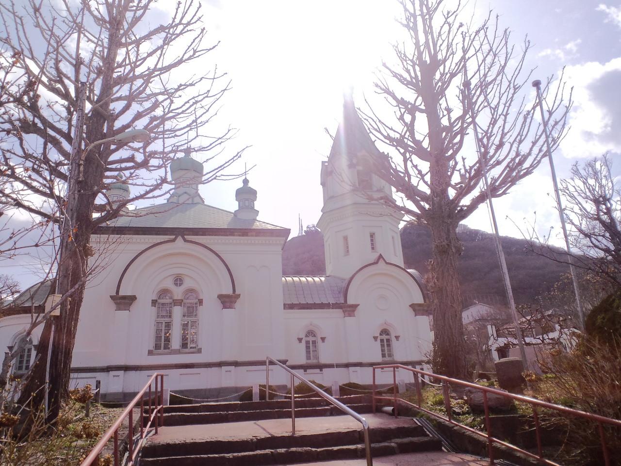 函館公園にある洋風教会