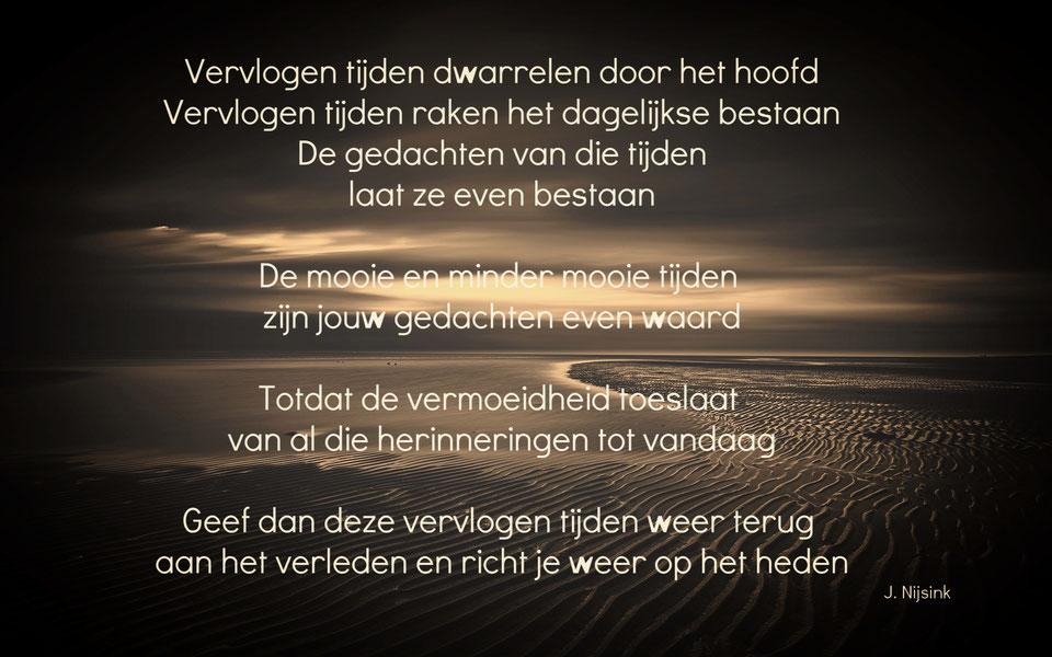 J. Nijsink - Gedicht Vervlogen Tijden