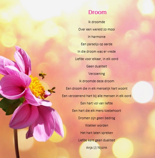 Citaten Over Vrede : Gedicht droom vrede op aarde bijzondere gedichten en