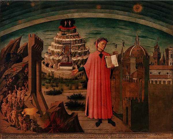 Dante expliquant la Divine Comédie 1465 Domenico Di Michelino