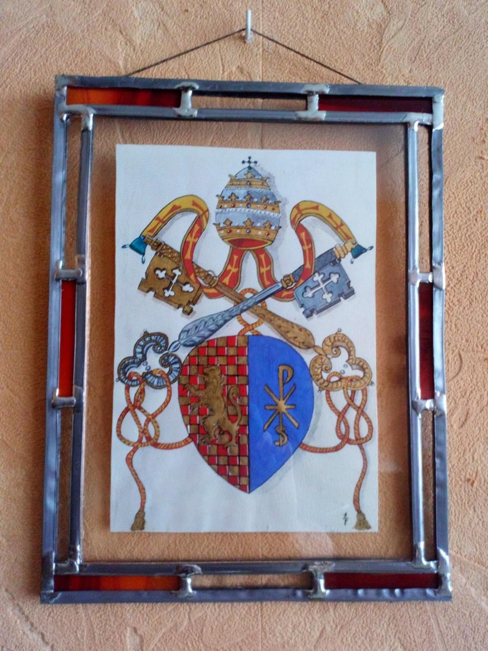 Armoiries de Calixte II , pape de 1119 à 1124 , né à Quingey en Franche-Comté Disponible ( me contacter)