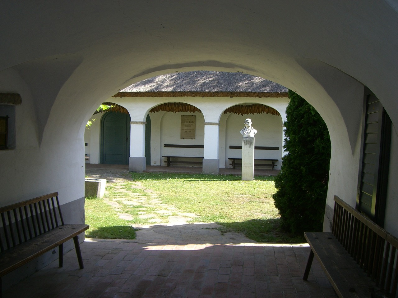 Courtyard of Joseph and Michael Haydn's birthplace in Rohrau, Lower Austria
