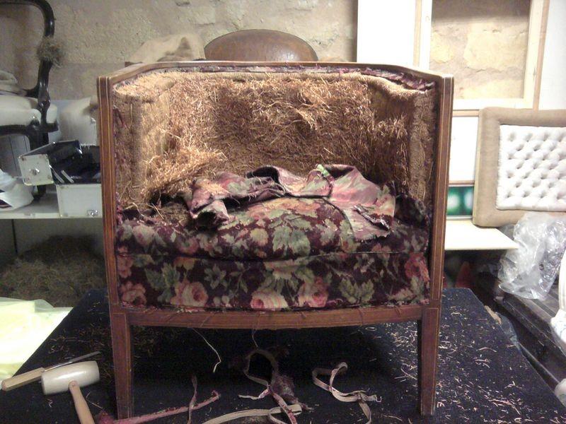 fauteuil tonneau 1930 fauteuil elegance tapissier d. Black Bedroom Furniture Sets. Home Design Ideas