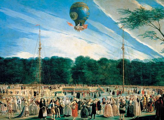 Ascensión de un Montgolfier en Aranjuez (1784) - Antonio Carnicero