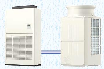設備用パッケージエアコンの室内機と室外機、それぞれ8馬力です。