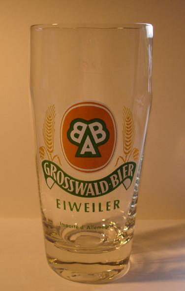 altes Bierglas Brauerei Grosswald BAB Eiweiler Saar