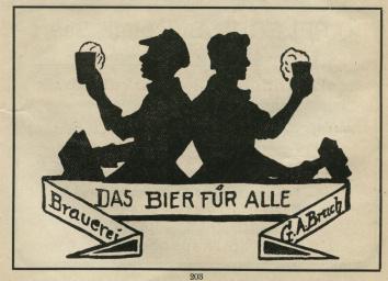 Werbung Bruch Brauerei