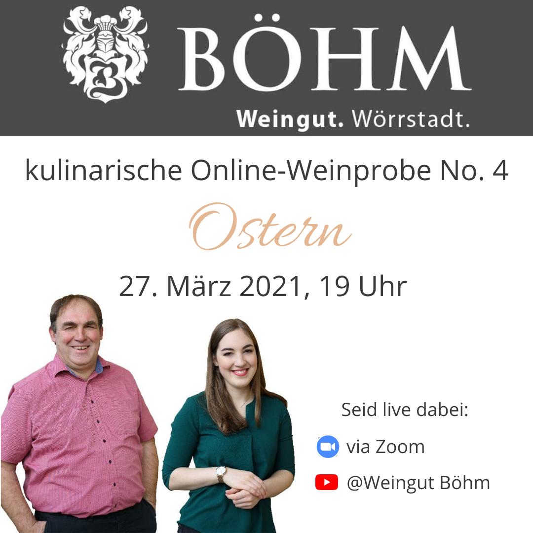 """Live-Weinprobe No. 4 """"Ostern"""""""